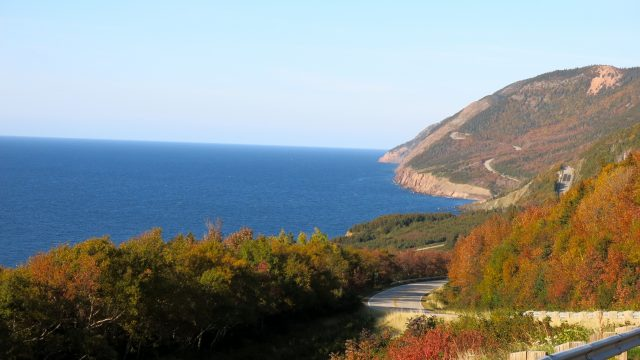 Cabot Trail in fall